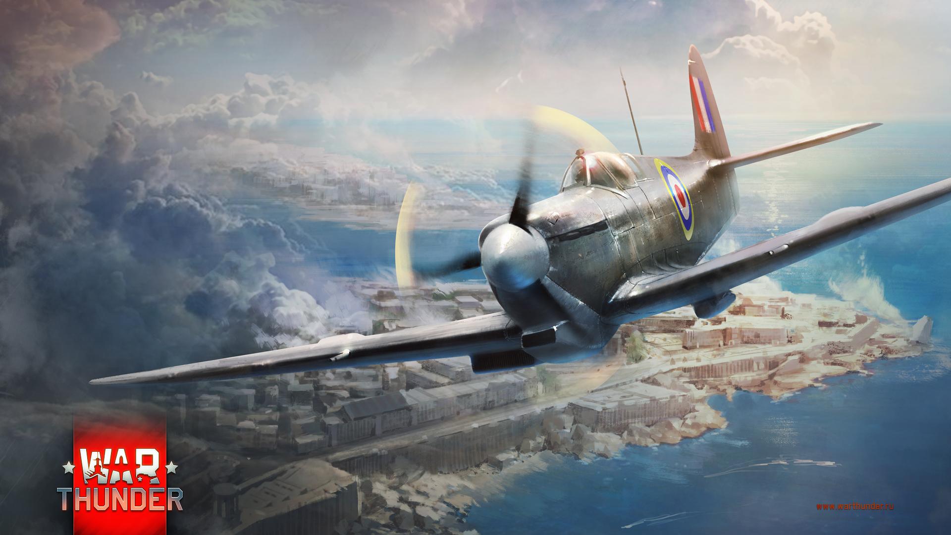 рисунок War thunder Spitfire