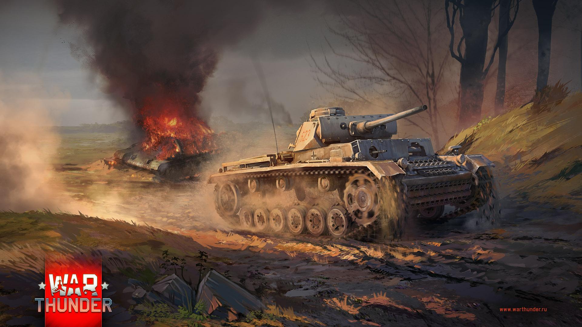 рисунок Pz.Kpfw IIIL vs Т-34-76