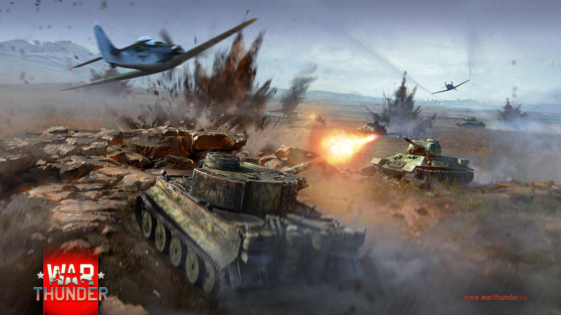 рисунок Тигры против Т-34-85